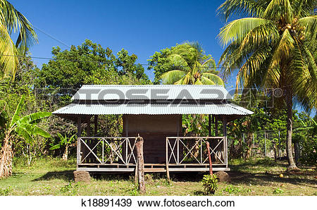 Stock Photograph of architecture local restaurant with zinc sheet.