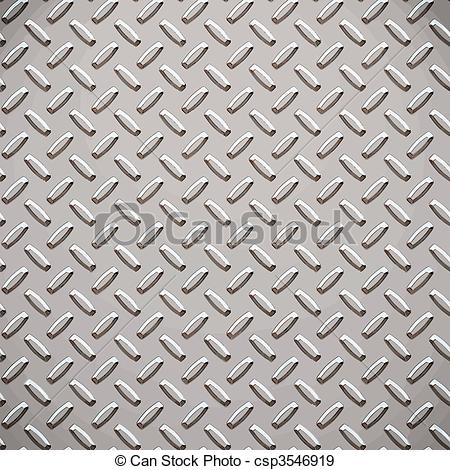 EPS Vectors of alloy diamond plate metal.