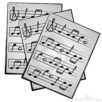 Clipart sheet music.