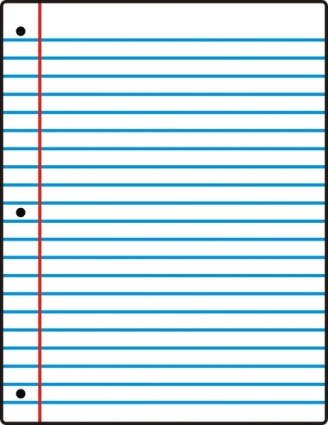 Sheet Of Notebook Paper Clipart.