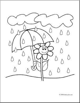 Rain Flowers Clipart.