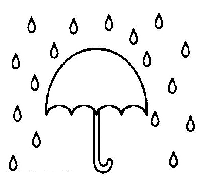 Umbrella With Rain Clipart.