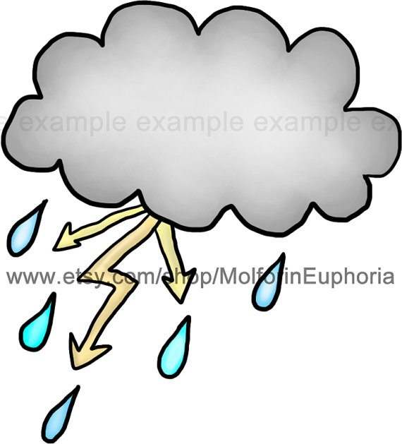 Clouds clipart weather clip art rain by MolforinEuphoria on Etsy.