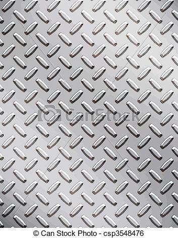 Clip Art Vector of alloy diamond plate metal.