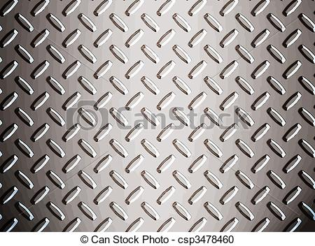 Vector Clipart of alloy diamond plate metal.