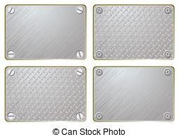 Vector Illustration of sheet metal background.