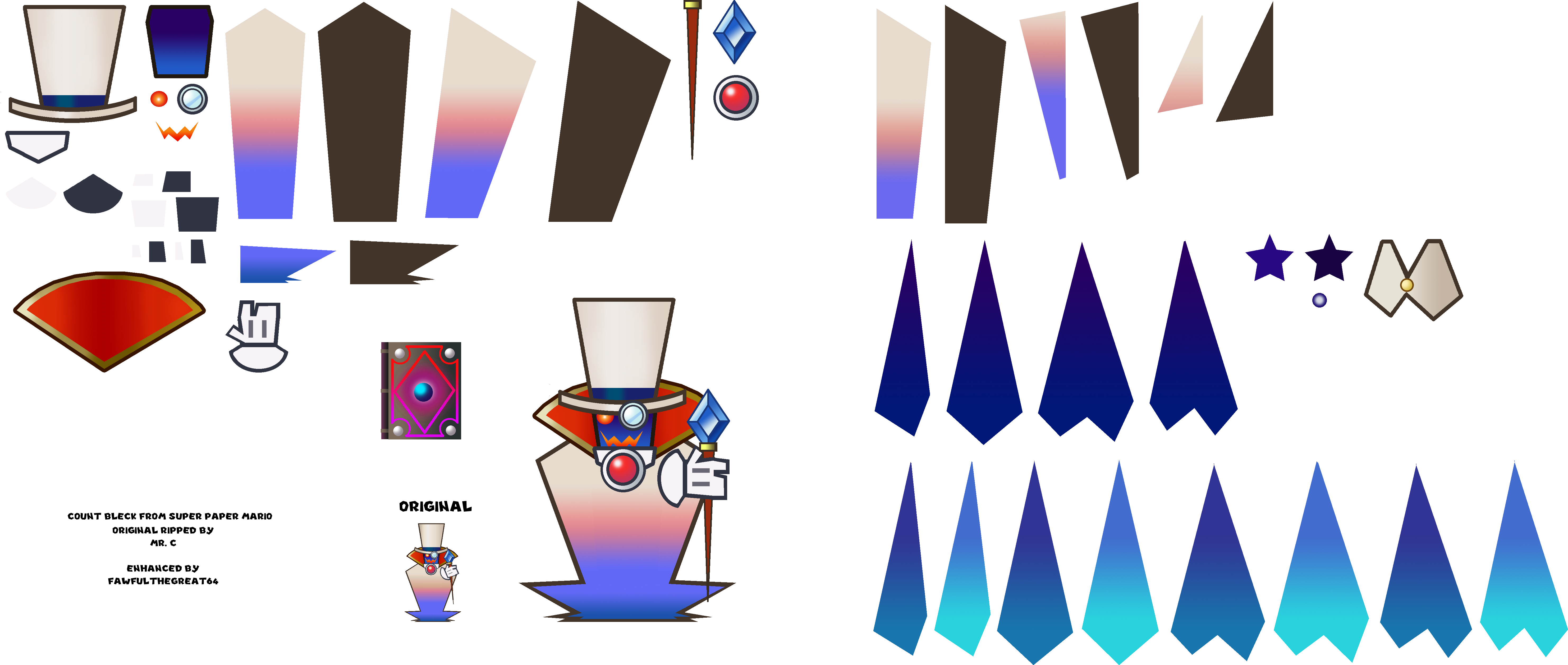 Paper Mario HD Sprite Sheet: Count Bleck by Fawfulthegreat64 on.