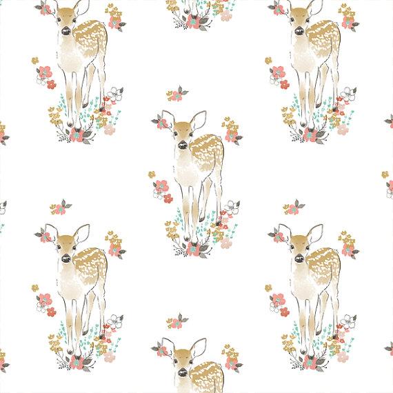 FABRIC REMNANT Fawn in Tulip Hawthorne by LittleMooseByLiza.