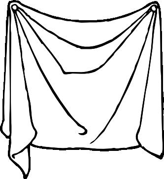 clipartist.net » Clip Art » draped sheet black white line art SVG.