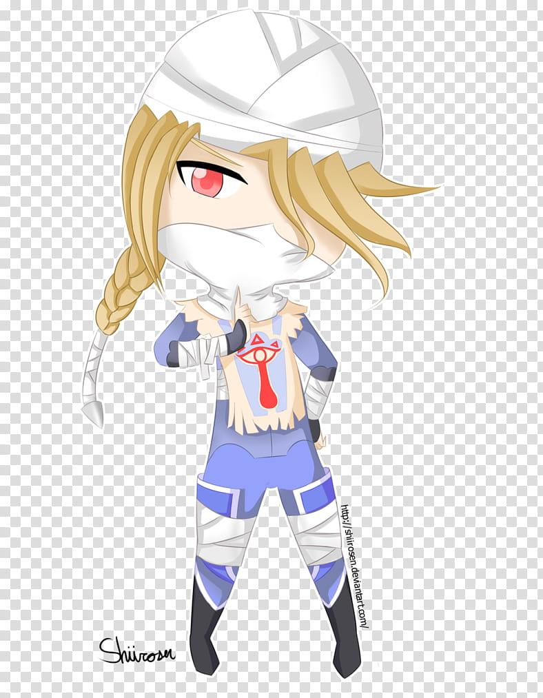 Chibi: Sheik transparent background PNG clipart.