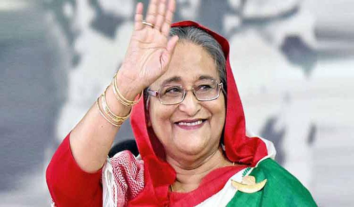 DU teachers congratulate Sheikh Hasina.