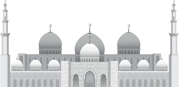 Sheikh zayed mosque clipart.