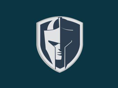 Shield and Helmet logo.