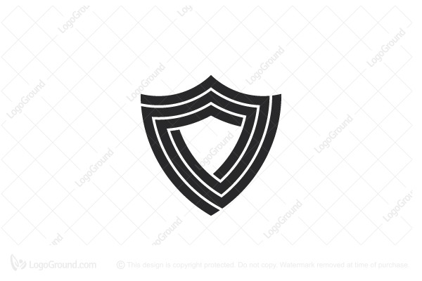 Exclusive Logo 186773, Stylized Spiral Shield Logo.
