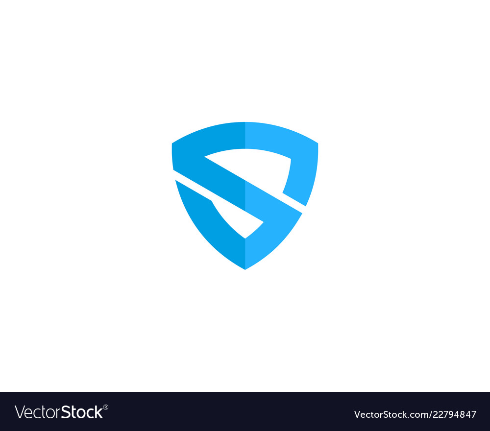Shield letter s logo icon design.