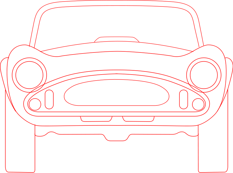 Shelby Cobra blueprint SVG Vector file, vector clip art svg file.