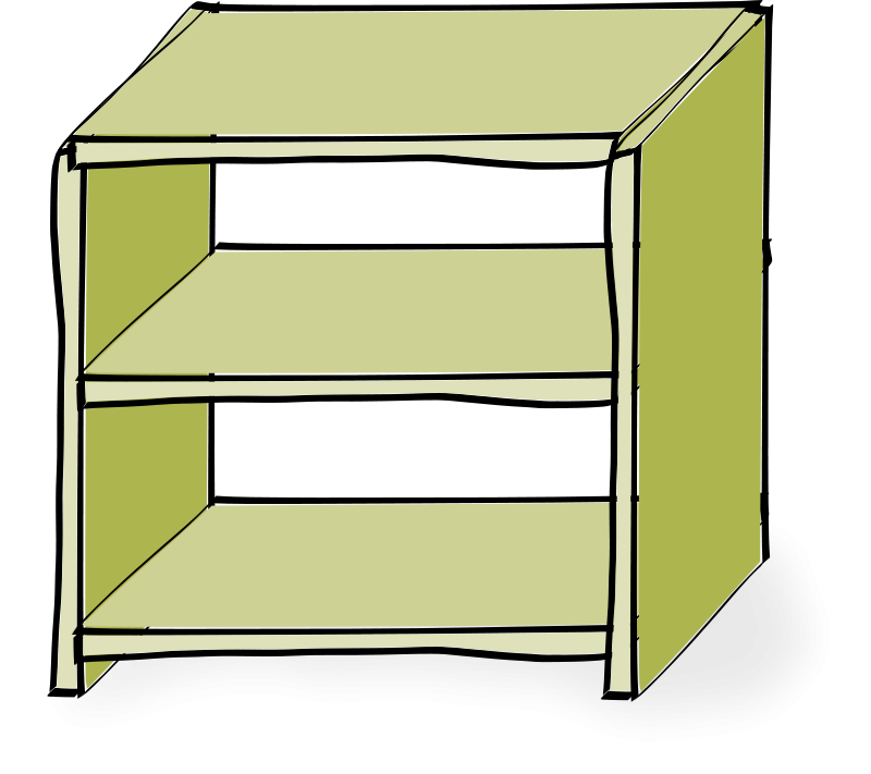 Shelves Clip Art.