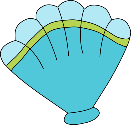 Blue Sea Shell Clip Art.