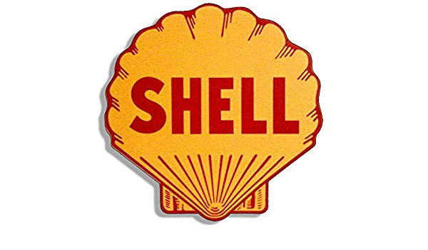 Amazon.com: MAGNET 4x4 inch Vintage SHELL Logo Shaped.
