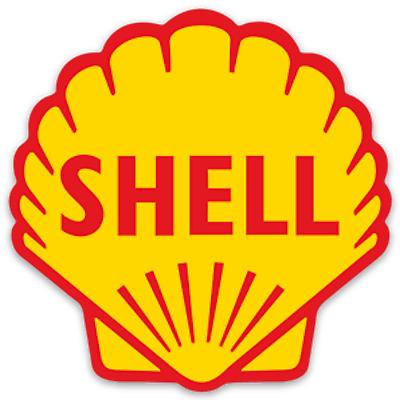 Vintage Shell 1955 Oil and Gas Logo Vinyl Sticker Nostalgic water bottle  toolbox.