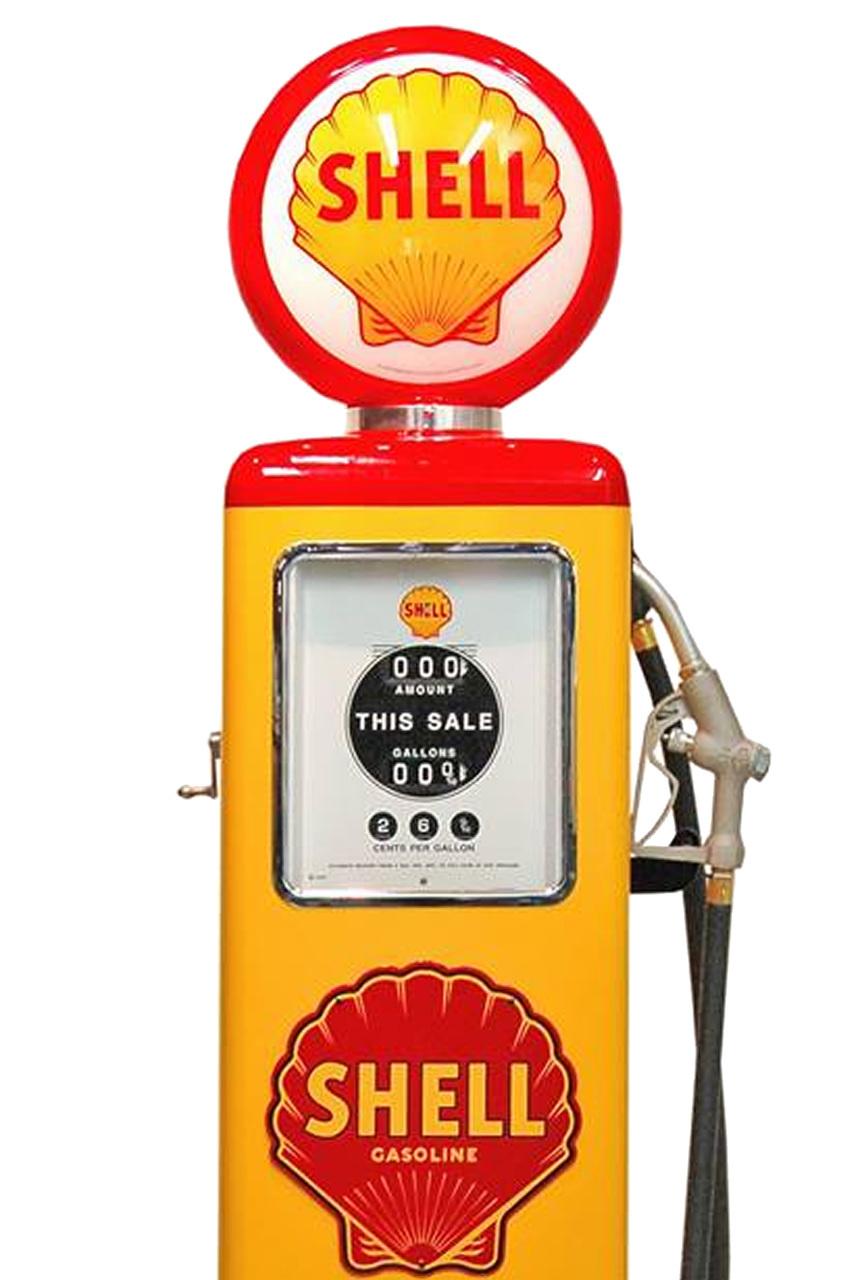 Shell gas pump.