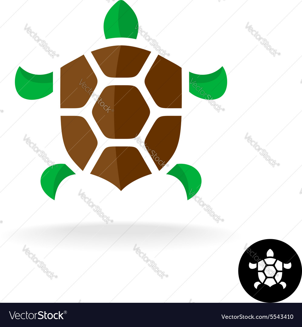 Turtle logo with shield shaped shell Vector Image by Kilroy79.
