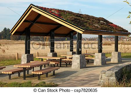 Stock Images of Recreational & picnic area shelter..