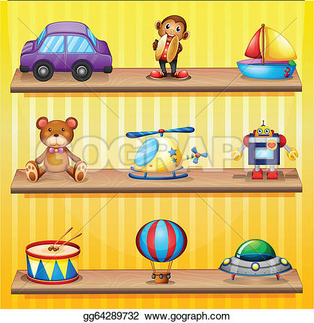 Royalty Free Shelves Clip Art.