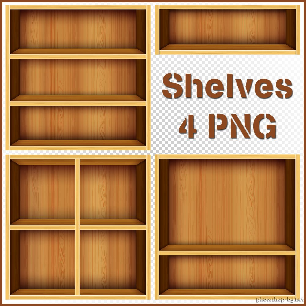 Shelves Clipart.