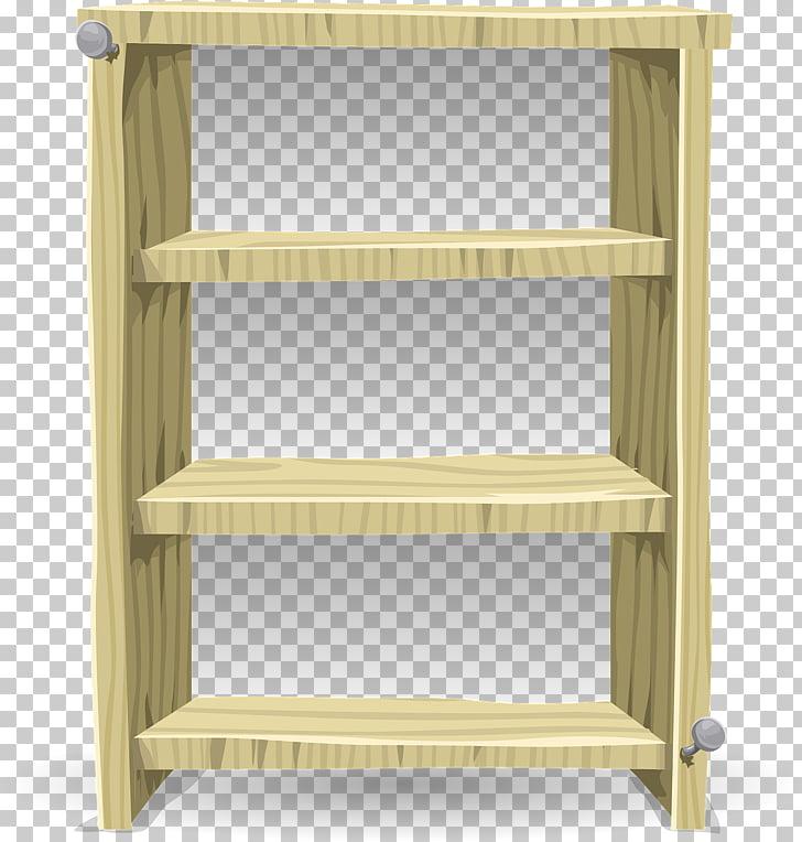Bookcase Shelf Furniture Closet , Wooden Shelves PNG clipart.