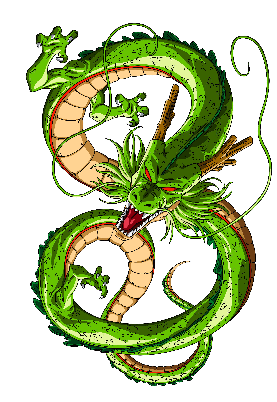Shenron and the seven magic dragon balls.