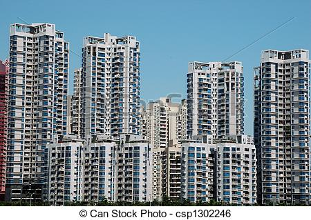 Stock Image of Residential buildings in China.