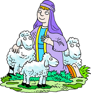 shepherd with sheep clipart - Clipground