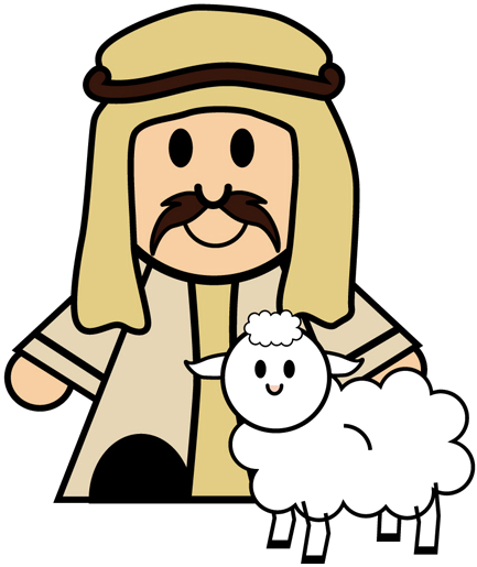 Clipart shepherd and sheep nativity.