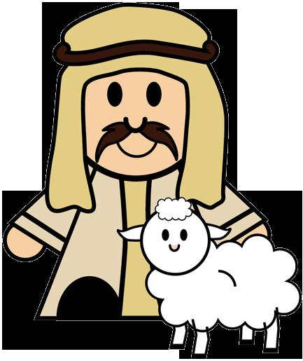 Clipart shepherd and sheep nativity.