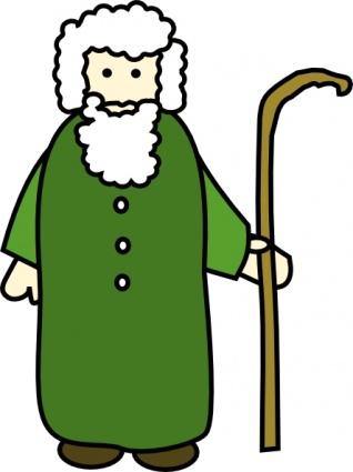 Christmas Shepherd Clipart.