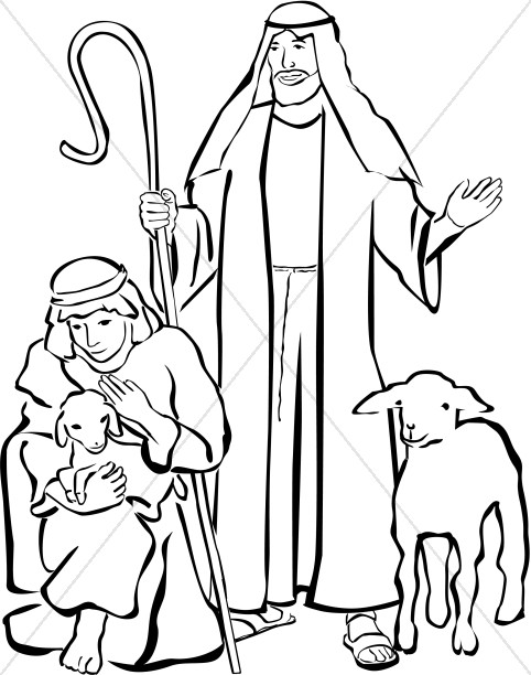 Shepherds Clipart.
