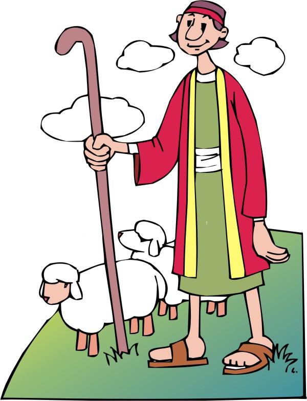 Shepherd And Sheep Clipart.