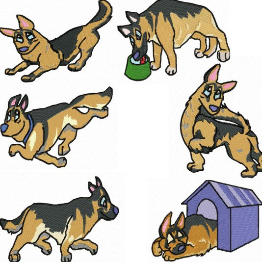 Shepherd Dog Clipart.