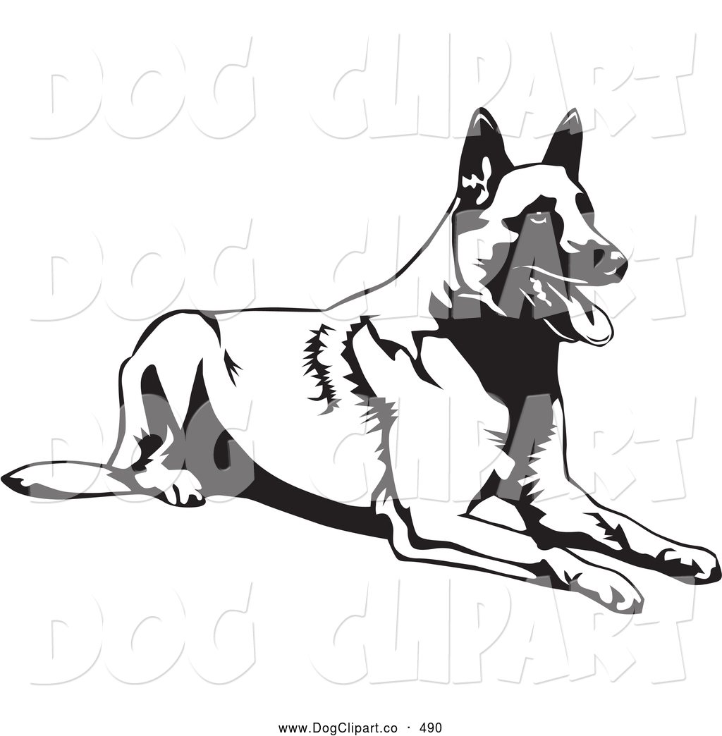 Royalty Free Stock Dog Designs of Shepherds.