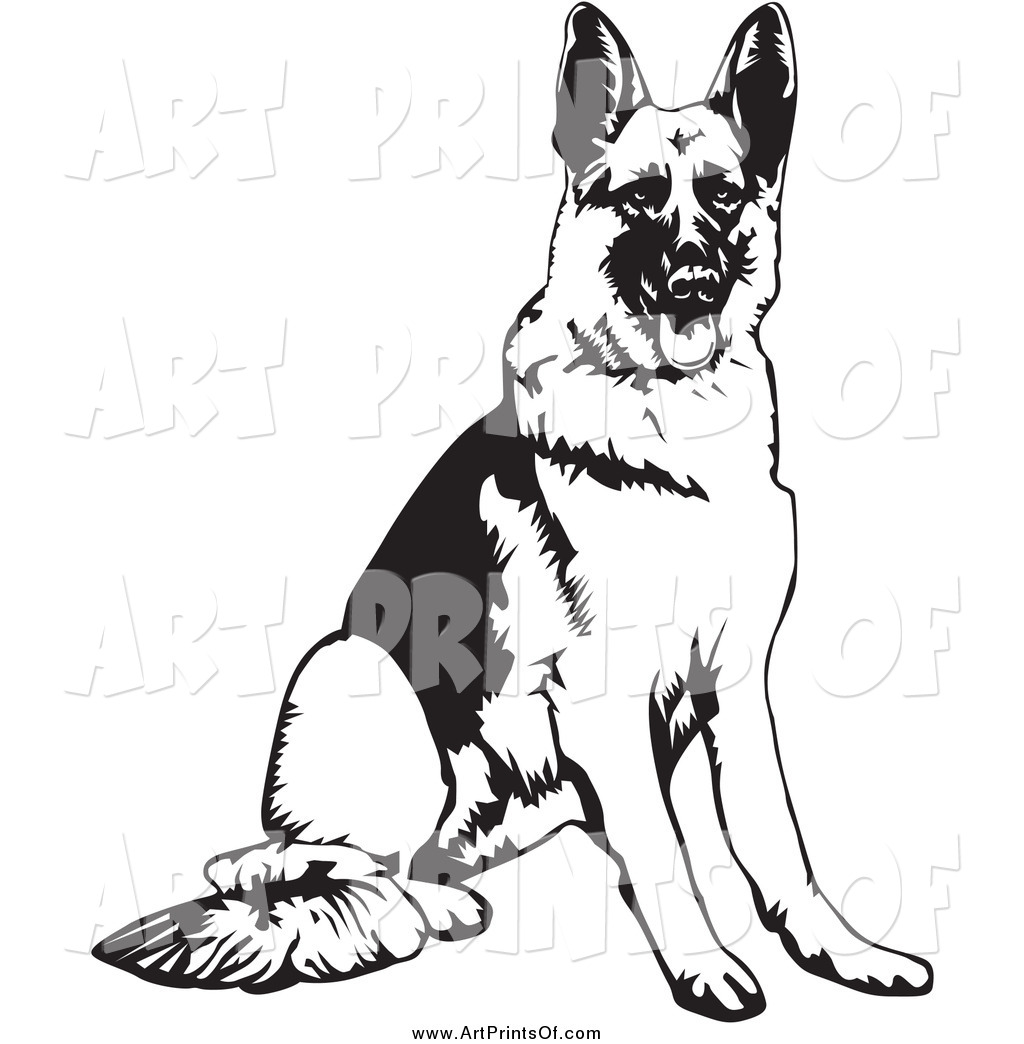 Black Shepherd Dog Clipart.