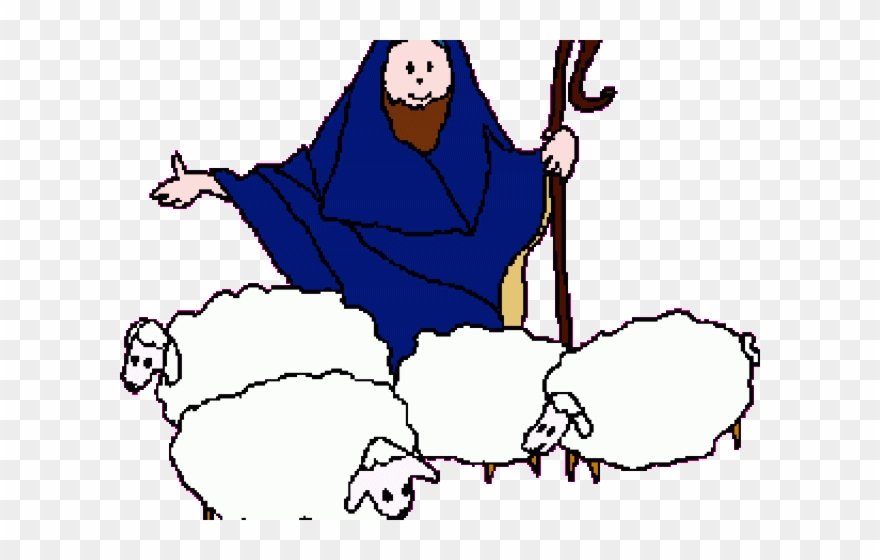 Shepherds And Sheep Clipart.