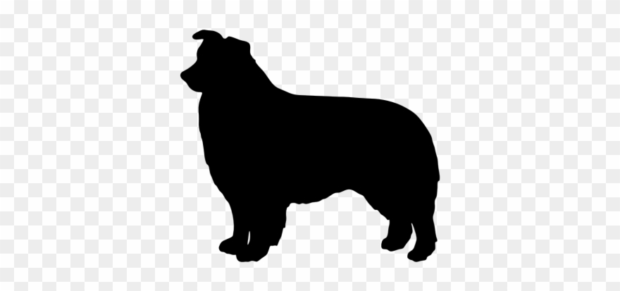 Australian Cattle Dog Clipart Silhouette.