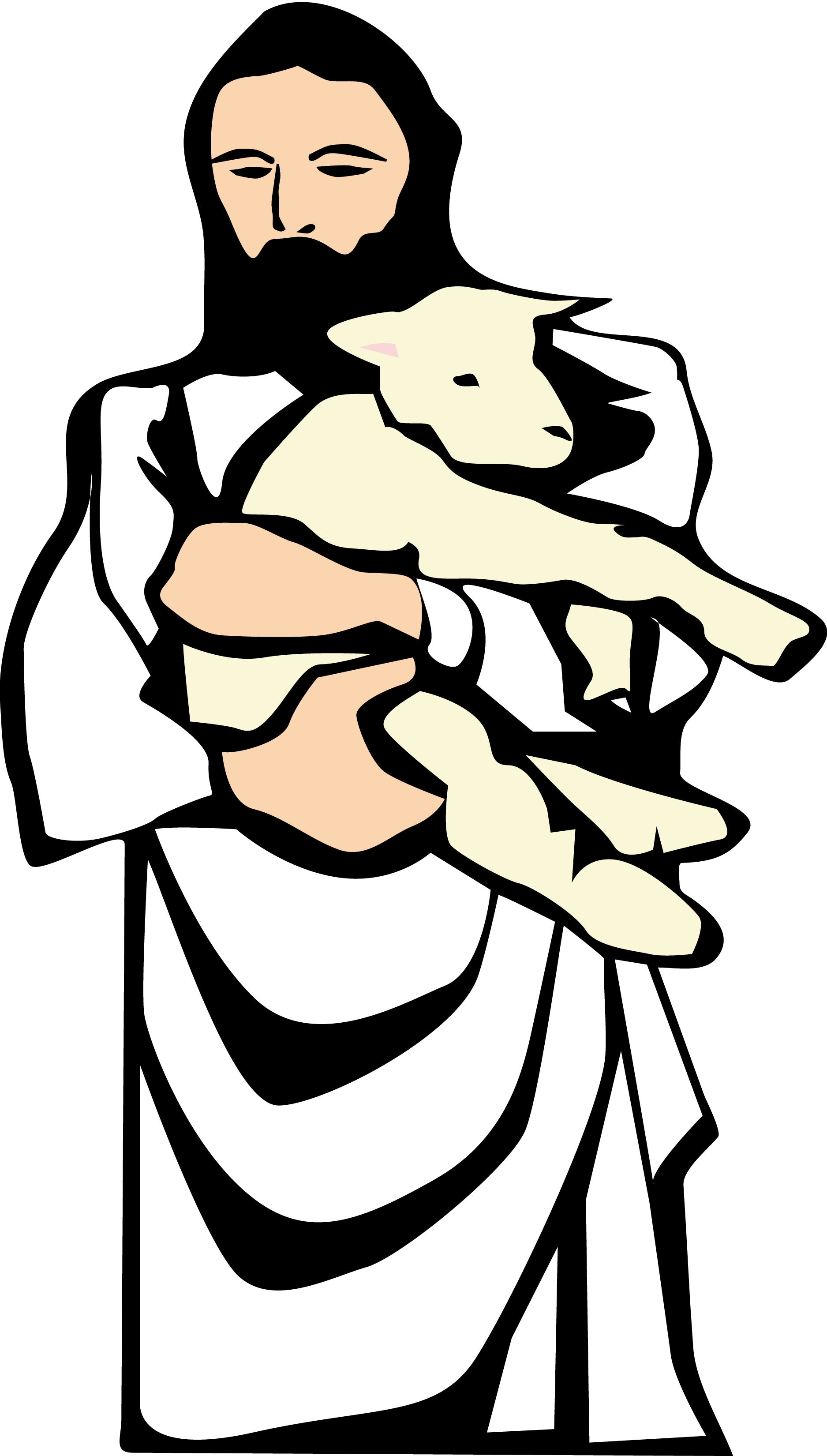 Shepherd And Sheep Clipart#1875681.