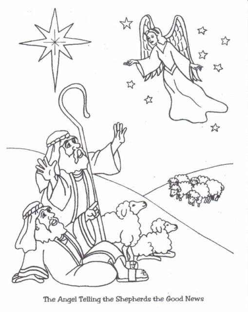 shepherds traveling to jesus christmas clipart and jesus coloring pages