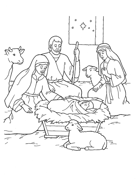 shepherds waiting for a sign of jesus in black and white ...