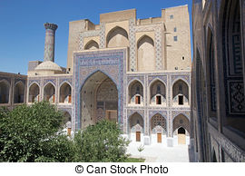 Stock Images of Samarkand Registan Sher.