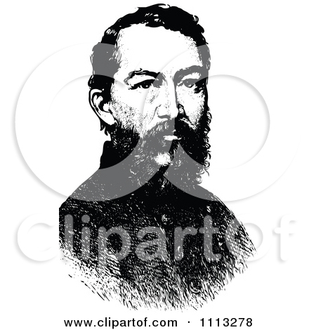 Clipart Vintage Black And White Portrait Of General William.