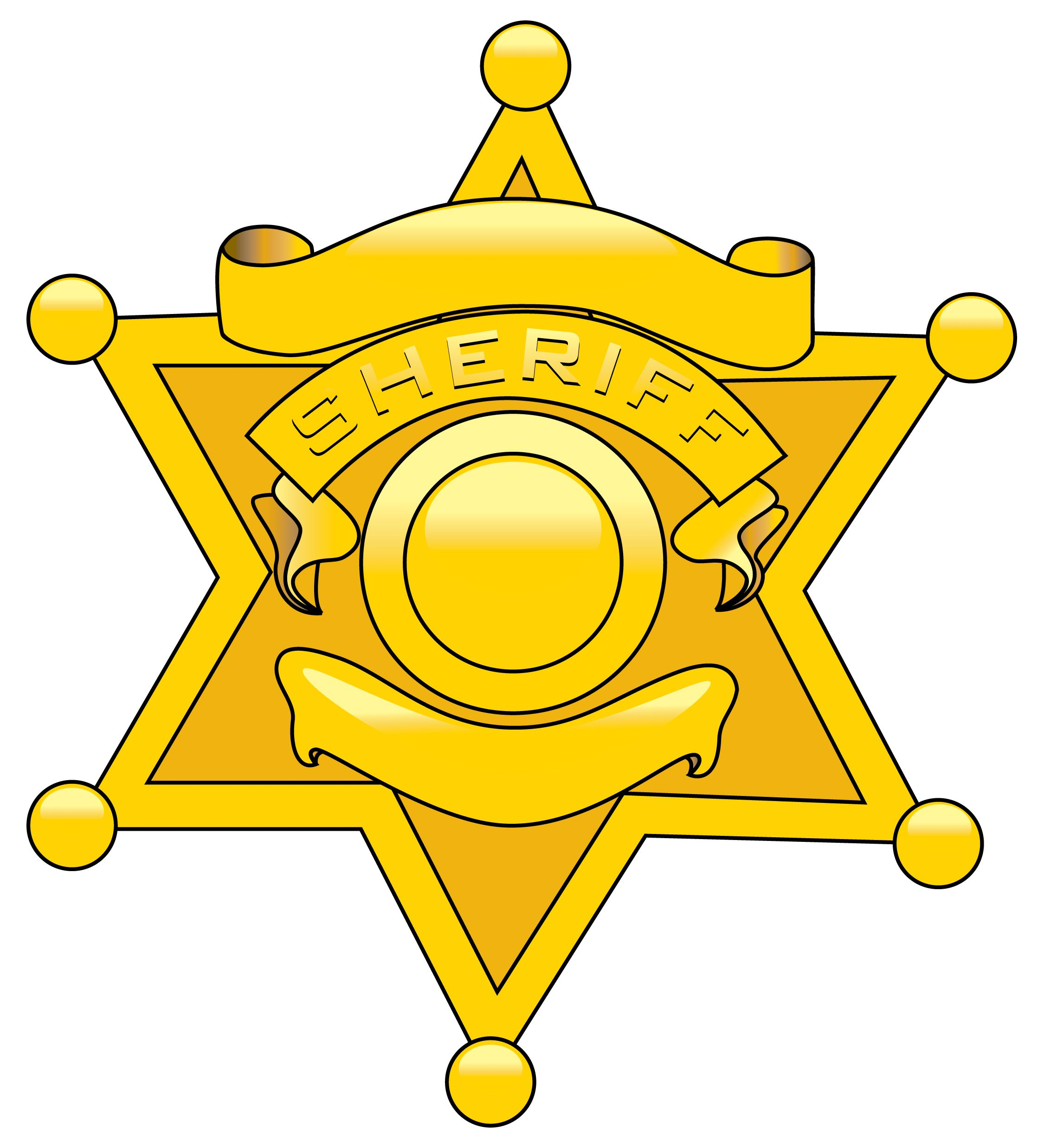 Sheriff badge gallery for police cartoon badge clipart.