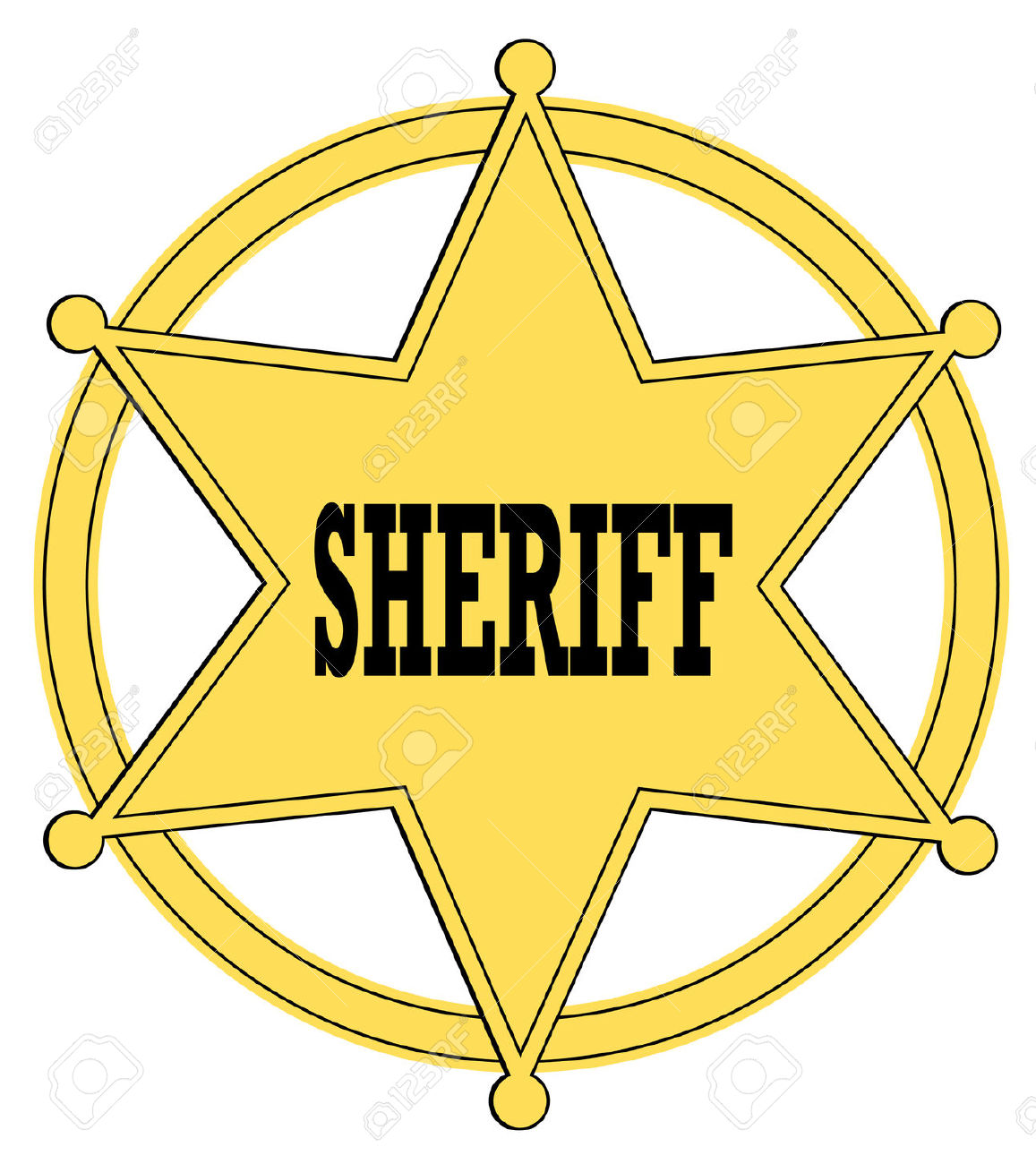 Collection of Sheriff badge clipart.